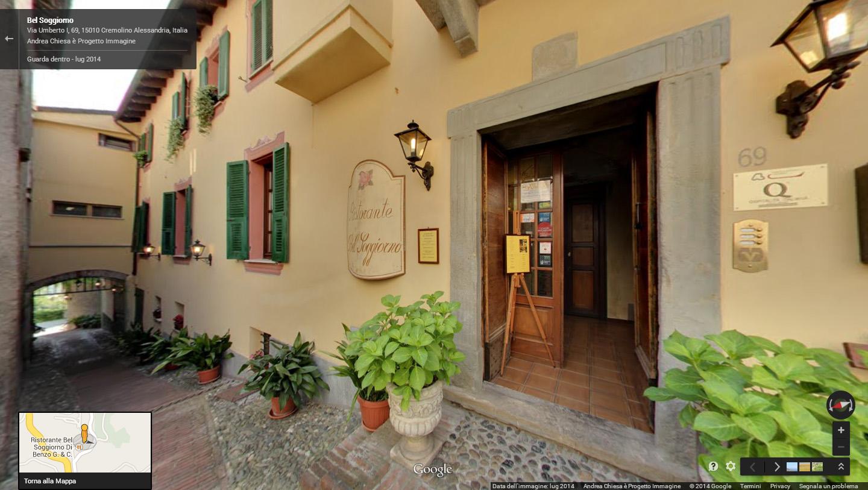 BEL SOGGIORNO ristorante virtual tour by Andrea Chiesa Google Street ...