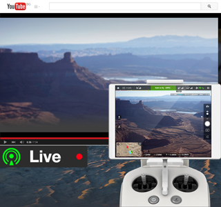 youtube live streaming drone