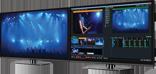 Telecamere professionali e regia mobile per riprese video di eventi
