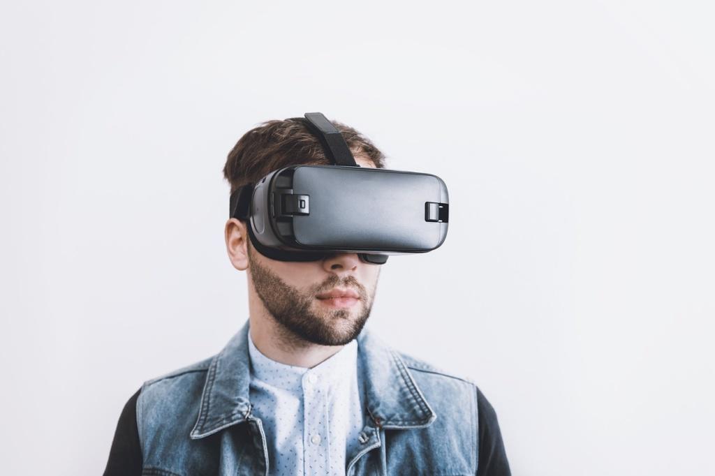 visore per museo virtuale con mostra fotografica