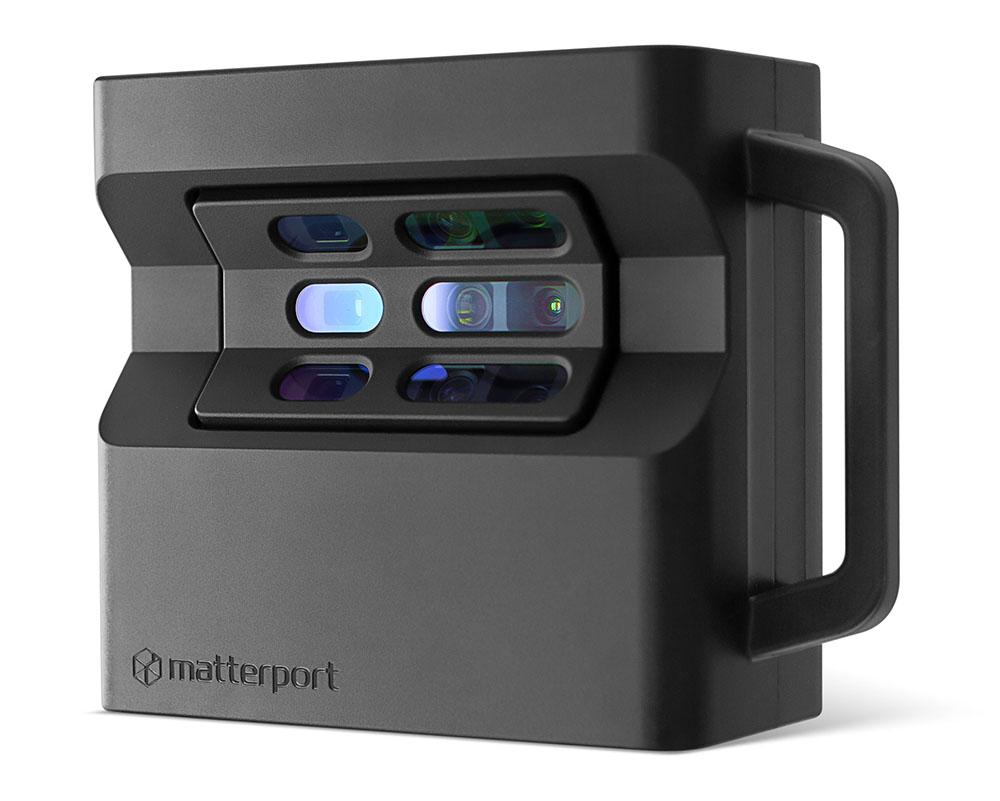 apparecchio fotografico Matterport PRO 2 per virtual tour e rilievo laser scanner 3d con dollhouse